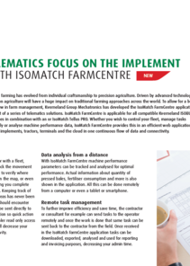 Kverneland IsoMatch FarmCentre 1-pager
